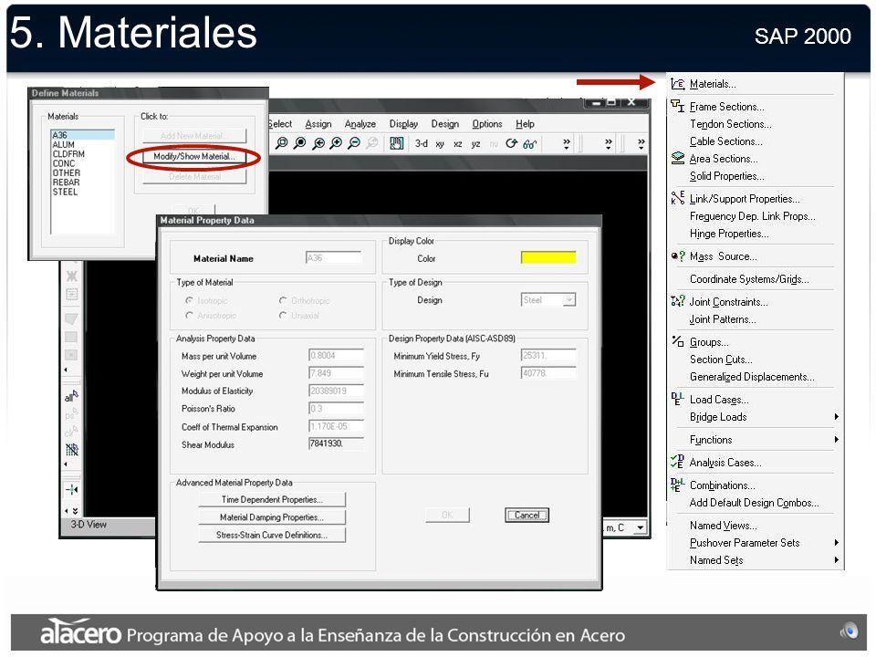 5. Unidades SAP 2000