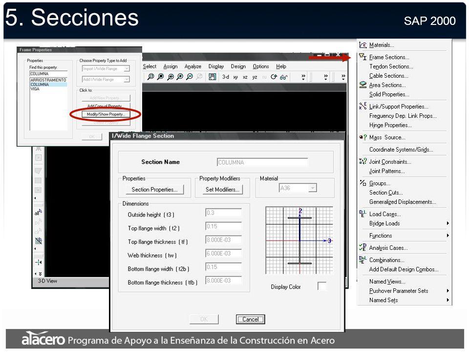 5. Materiales SAP 2000