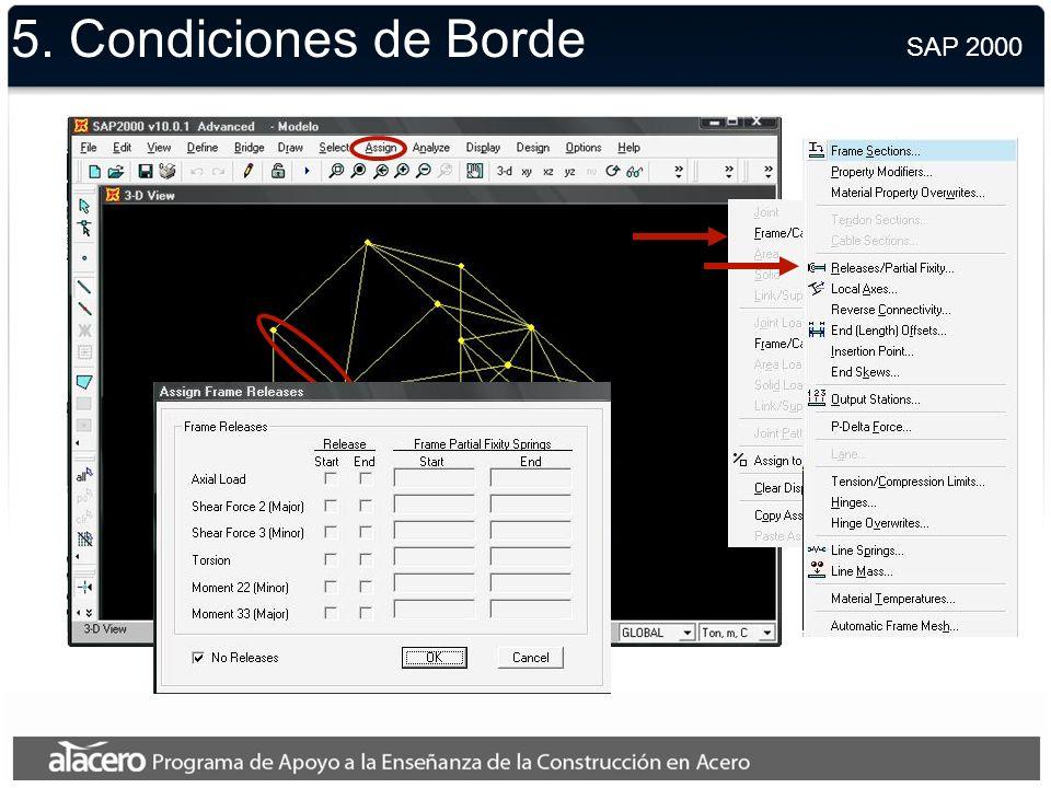 5. Geometría SAP 2000
