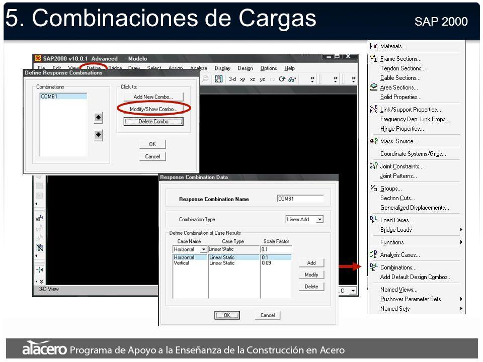 5. Cargas Unitarias SAP 2000