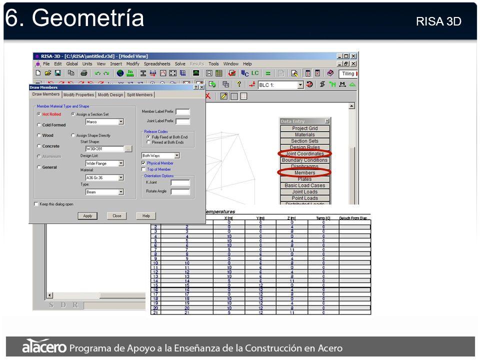 6. Secciones RISA 3D