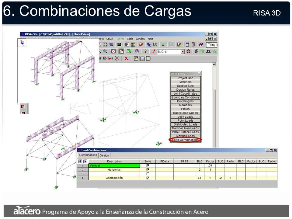 6. Cargas Unitarias RISA 3D