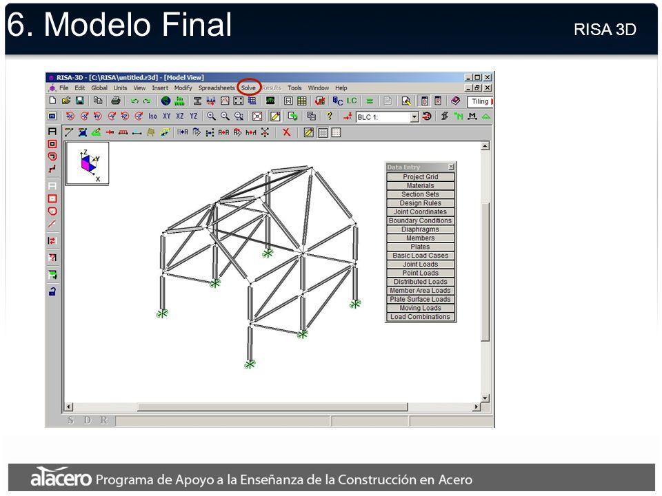 6. Cambios al Diseño RISA 3D