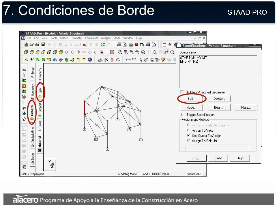7. Geometría STAAD PRO