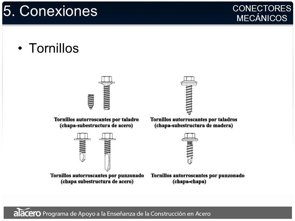 CONECTORES MECÁNICOS 5. Conexiones Tornillos