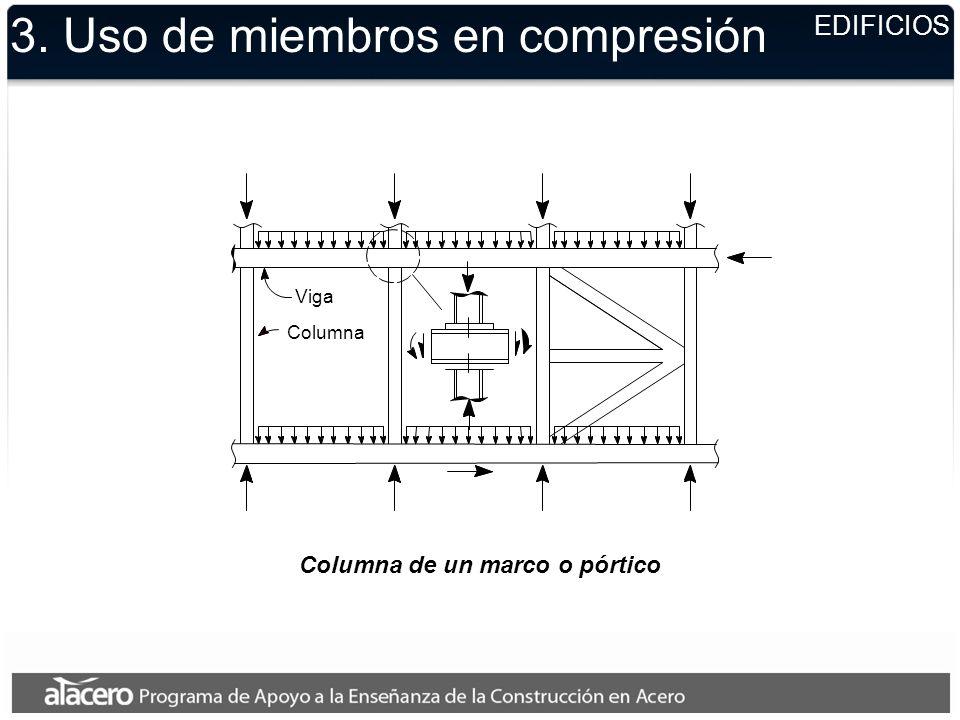 Columna de un marco o pórtico 3. Uso de miembros en compresión EDIFICIOS