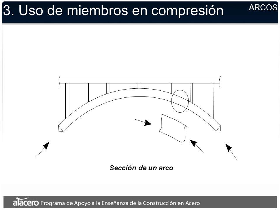 3. Uso de miembros en compresión ARCOS Sección de un arco