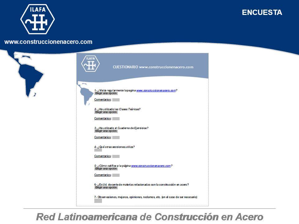 Red Latinoamericana de Construcción en Acero www.construccionenacero.com ENCUESTA