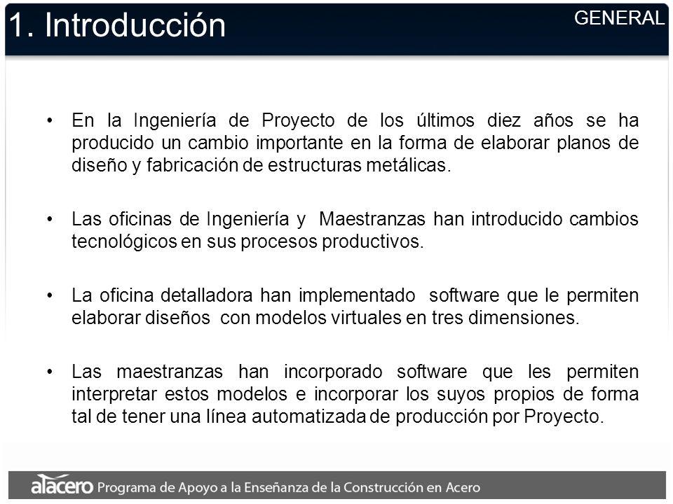 1. Introducción En la Ingeniería de Proyecto de los últimos diez años se ha producido un cambio importante en la forma de elaborar planos de diseño y