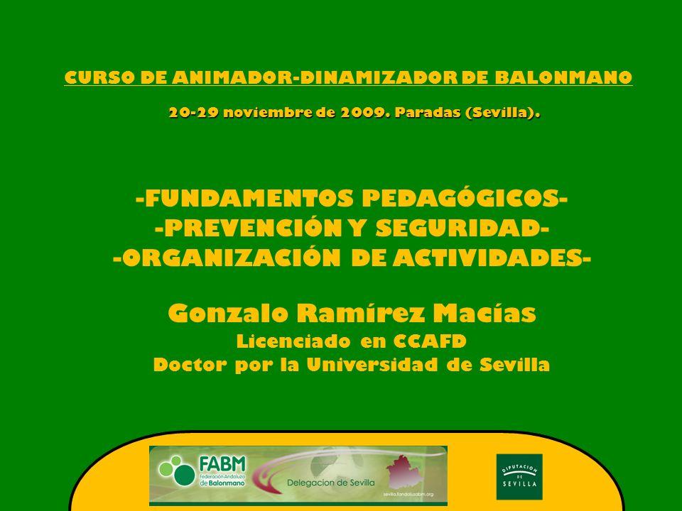 CURSO DE ANIMADOR-DINAMIZADOR DE BALONMANO 20-29 noviembre de 2009.