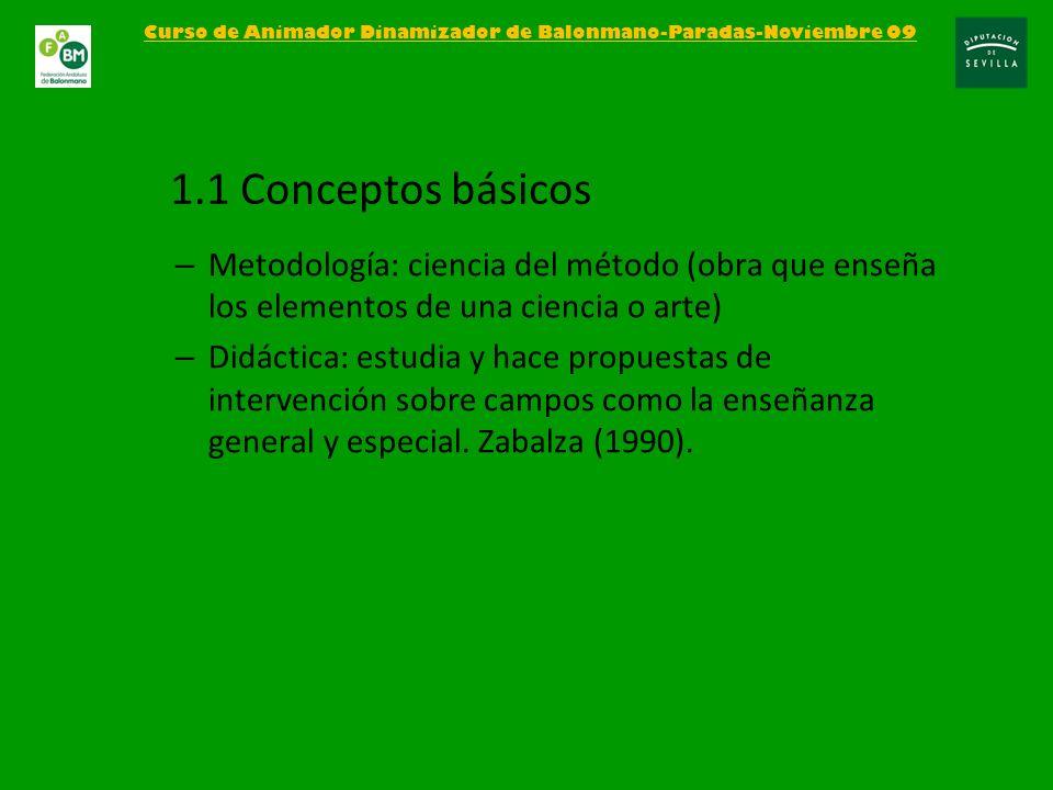 – Metodología: ciencia del método (obra que enseña los elementos de una ciencia o arte) – Didáctica: estudia y hace propuestas de intervención sobre c