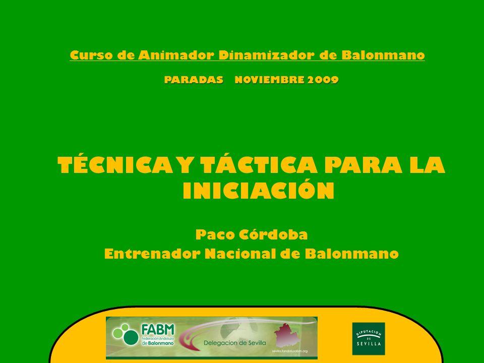 Curso de Animador Dinamizador de Balonmano-Paradas-Noviembre 09.- INTRODUCCION..- CONTENIDOS TECNICOS DEL ATAQUE..- CONTENIDOS TACTICOS DEL ATAQUE..- CONTENIDOS TECNICOS DE LA DEFENSA..- CONTENIDOS TACTICOS DE LA DEFENSA..- PORTERO.