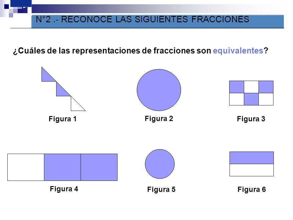 1 ¿Cuáles de las representaciones de fracciones no son impropias? Figura 1Figura 2 Figura 3 Figura 4 Figura 9 Figura 8Figura 7 Figura 6Figura 5 ACTIVI