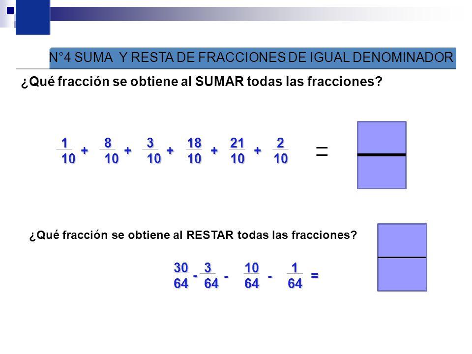 1 ¿Cuáles de las representaciones de fracciones son equivalentes? Figura 1 Figura 2 Figura 3 Figura 4 Figura 5Figura 6 N°2.- RECONOCE LAS SIGUIENTES F