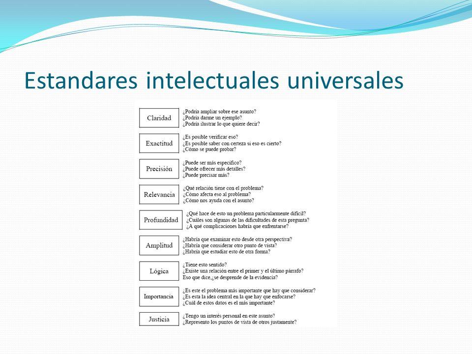 Estandares intelectuales universales
