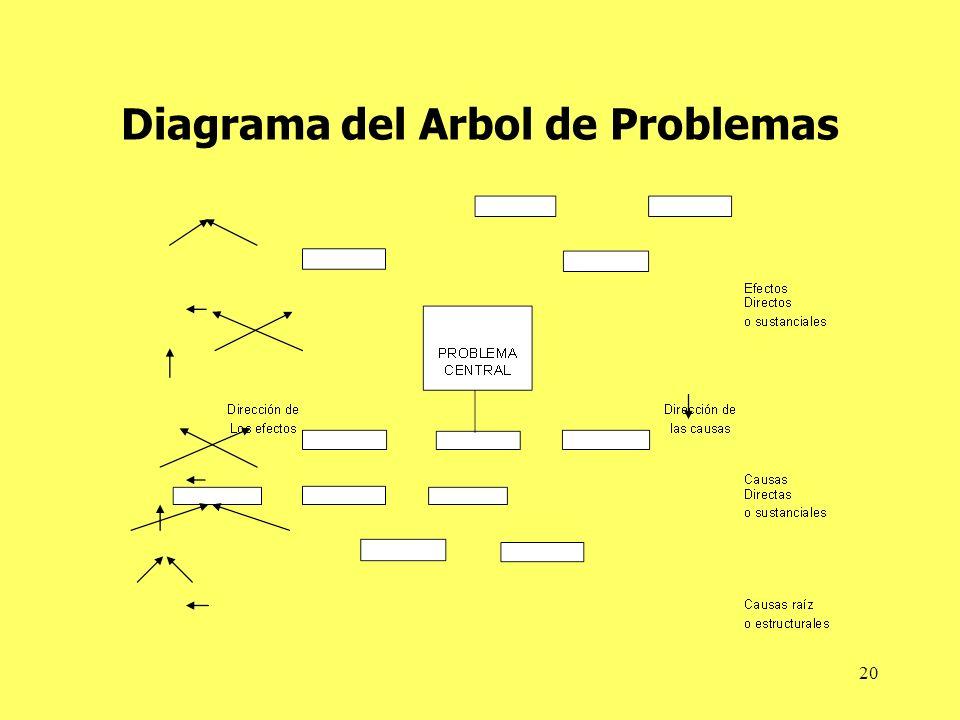 20 Diagrama del Arbol de Problemas