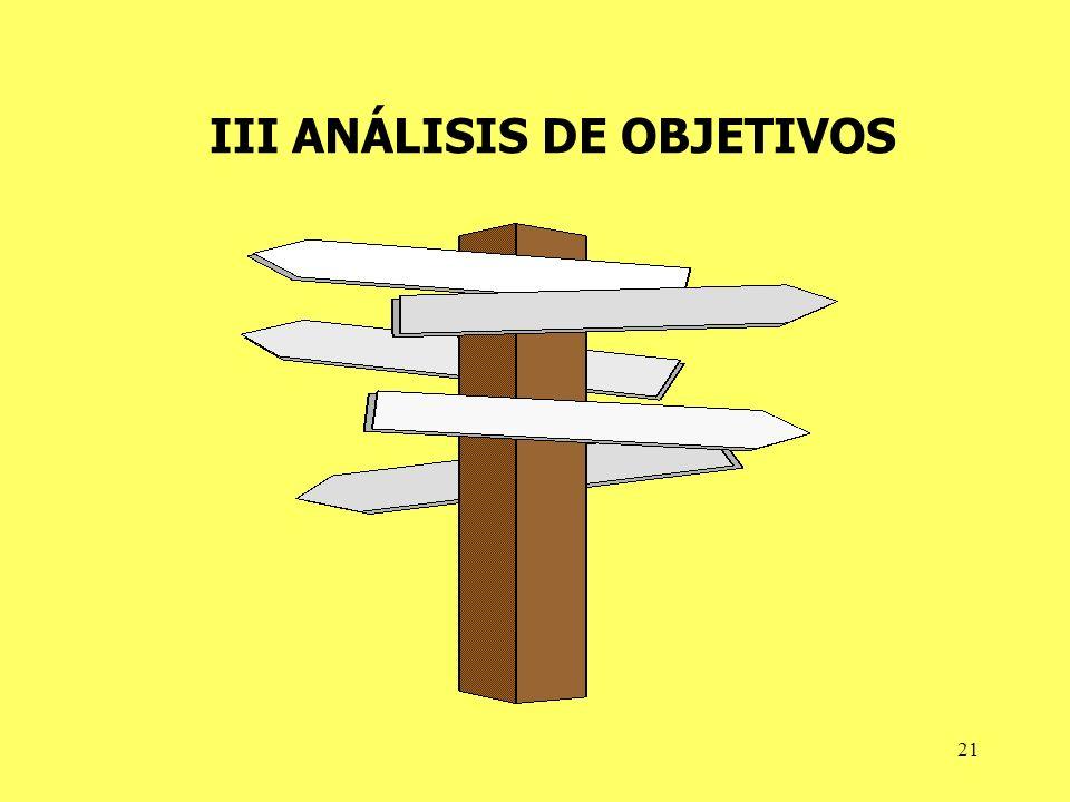 21 III ANÁLISIS DE OBJETIVOS