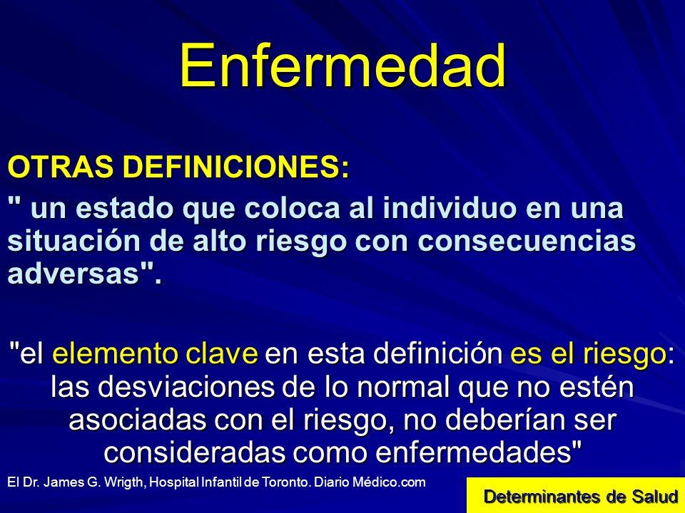 Enfermedad OTRAS DEFINICIONES: