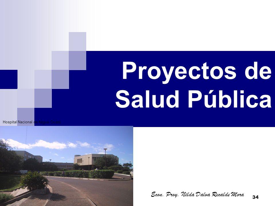 34 Proyectos de Salud Pública Econ. Proy. Nilda Dalva Recalde Mora Hospital Nacional de Itagua Guazú