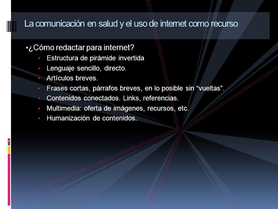 ¿Cómo redactar para internet.Estructura de pirámide invertida Lenguaje sencillo, directo.