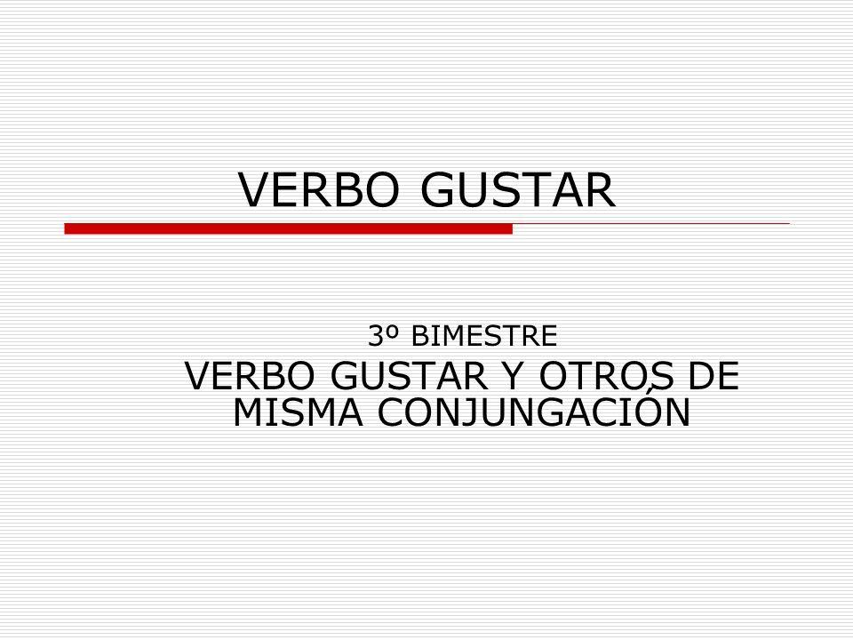 VERBO GUSTAR Para expresar tus gustos, puedes emplear el verbo GUSTAR.