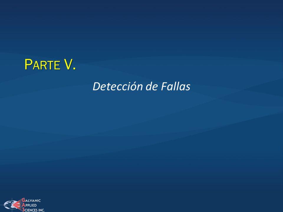 P ARTE V. Detección de Fallas