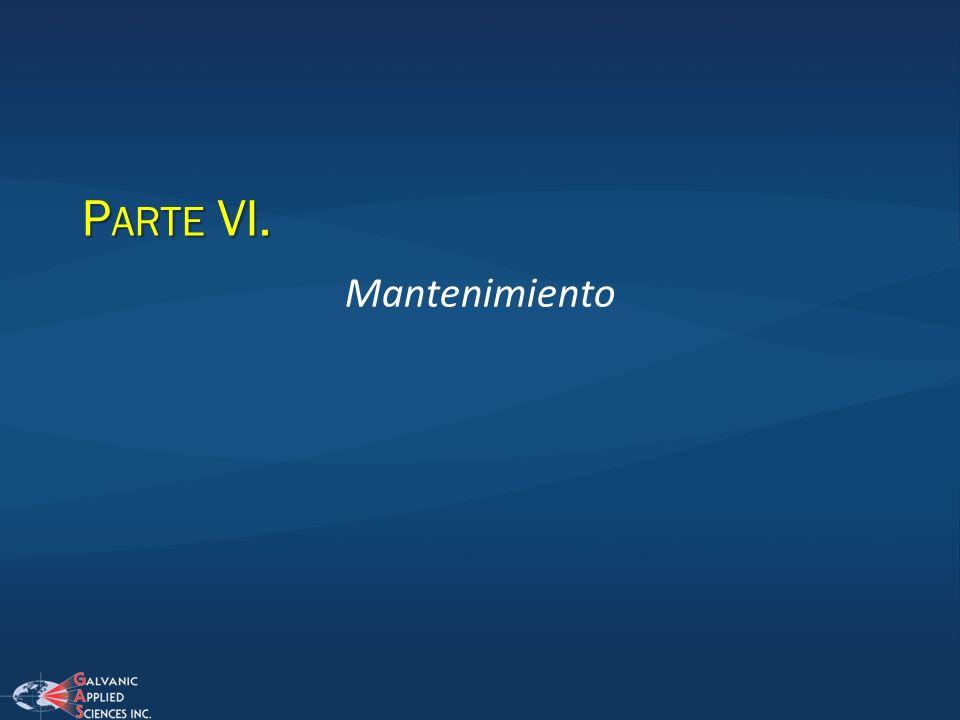 P ARTE VI. Mantenimiento