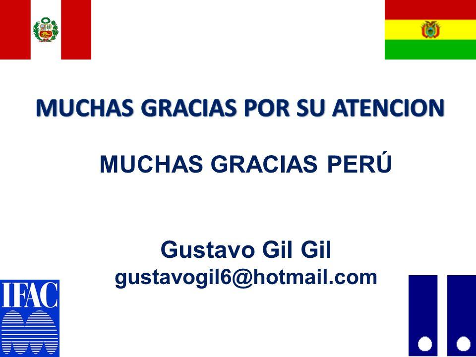 69 MUCHAS GRACIAS PERÚ Gustavo Gil Gil gustavogil6@hotmail.com