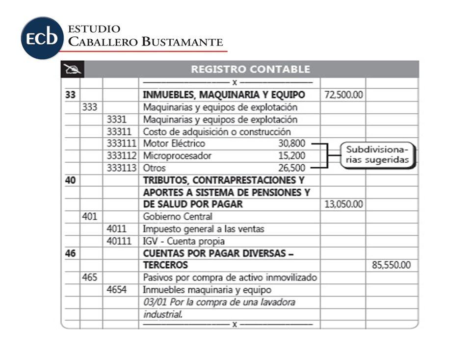 El cálculo de la depreciación para fines contables se efectuaría de la forma siguiente: