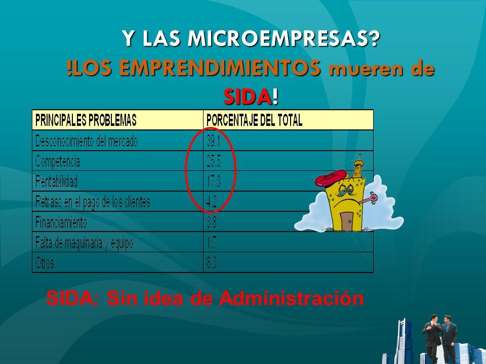 SIDA: Sin idea de Administración Y LAS MICROEMPRESAS? !LOS EMPRENDIMIENTOS mueren de SIDA!