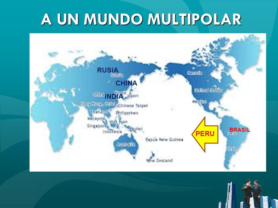 A UN MUNDO MULTIPOLAR A UN MUNDO MULTIPOLAR BRASIL CHINA RUSIA INDIA PERU