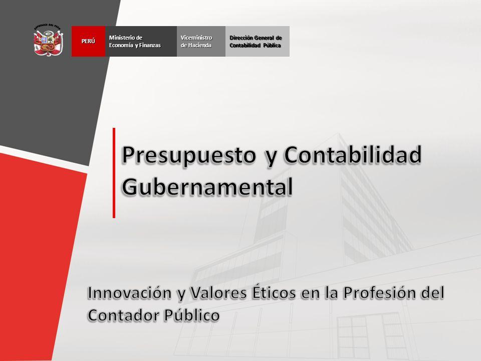 Dirección General de Contabilidad Pública Ministerio de Economía y Finanzas PERÚViceministro de Hacienda
