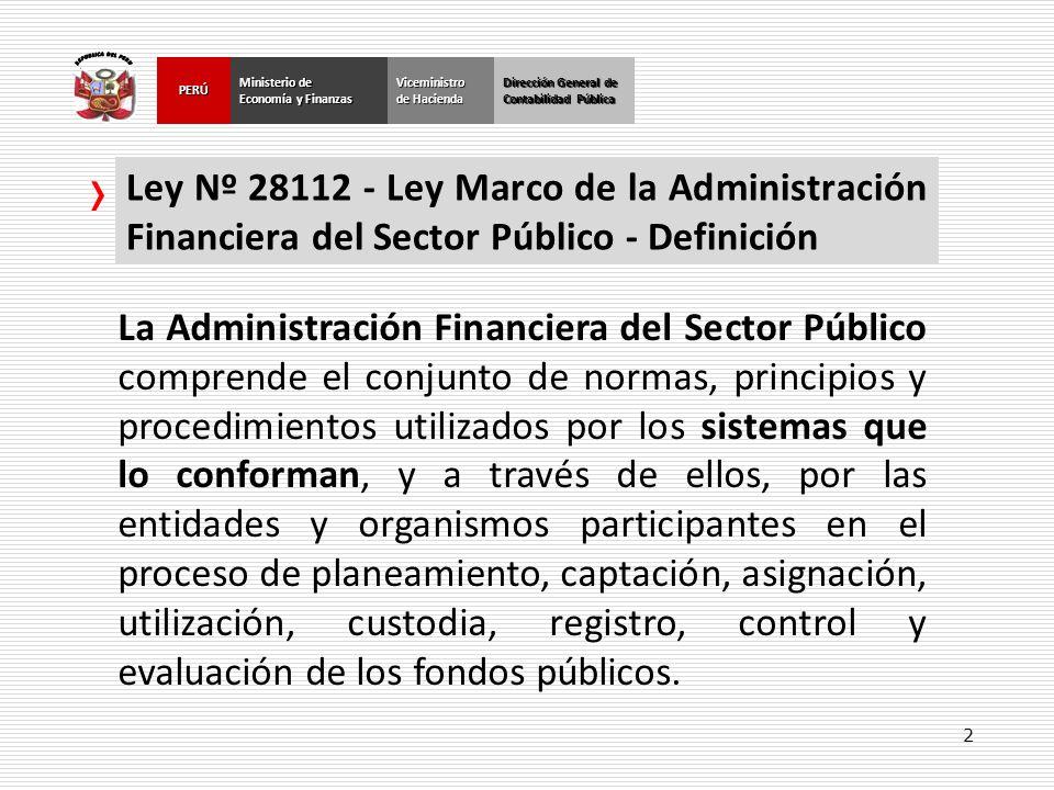 2 Dirección General de Contabilidad Pública Ministerio de Economía y Finanzas PERÚ Dirección General de Contabilidad Pública Ministerio de Economía y