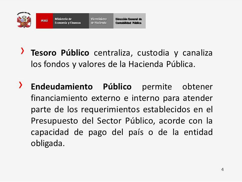 4 Dirección General de Contabilidad Pública Ministerio de Economía y Finanzas PERÚ Dirección General de Contabilidad Pública Ministerio de Economía y