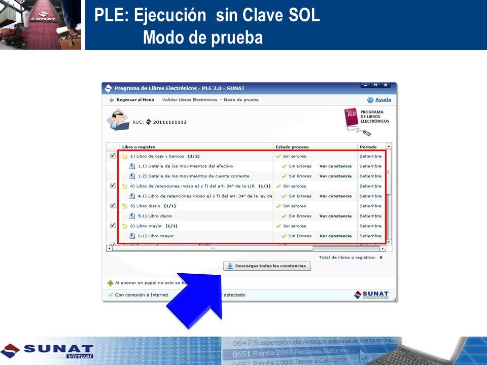 PLE: Ejecución con Clave SOL Enviar