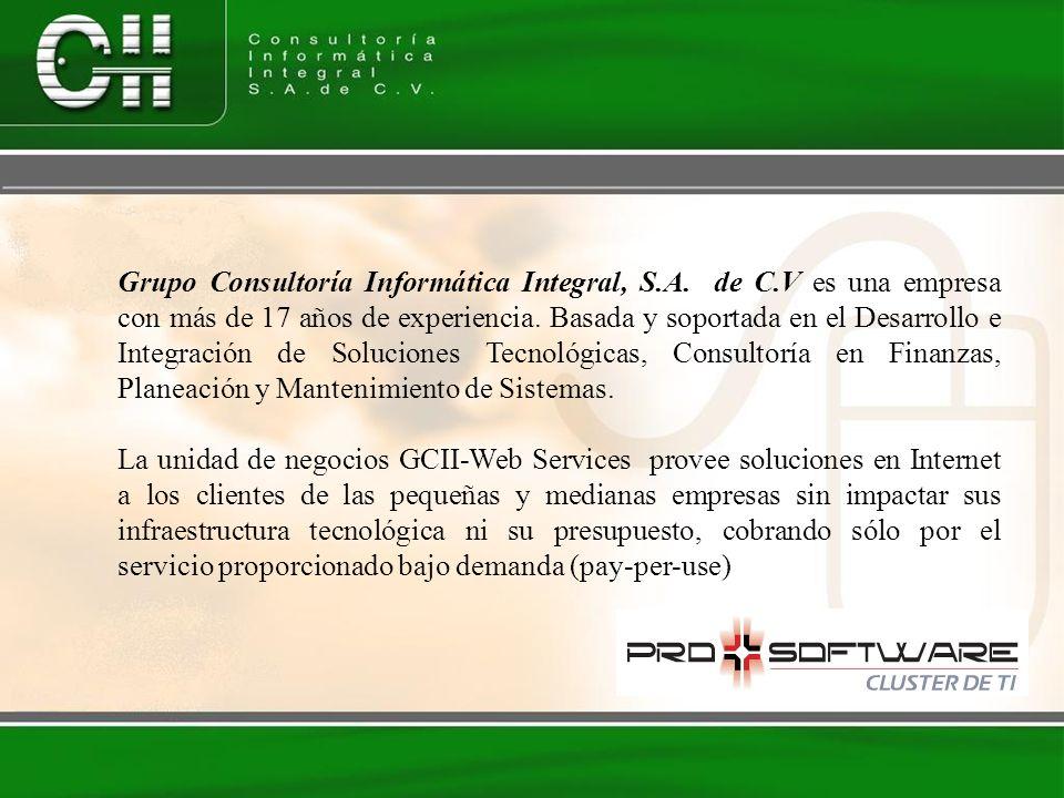 Grupo Consultoría Informática Integral, S.A. de C.V es una empresa con más de 17 años de experiencia. Basada y soportada en el Desarrollo e Integració