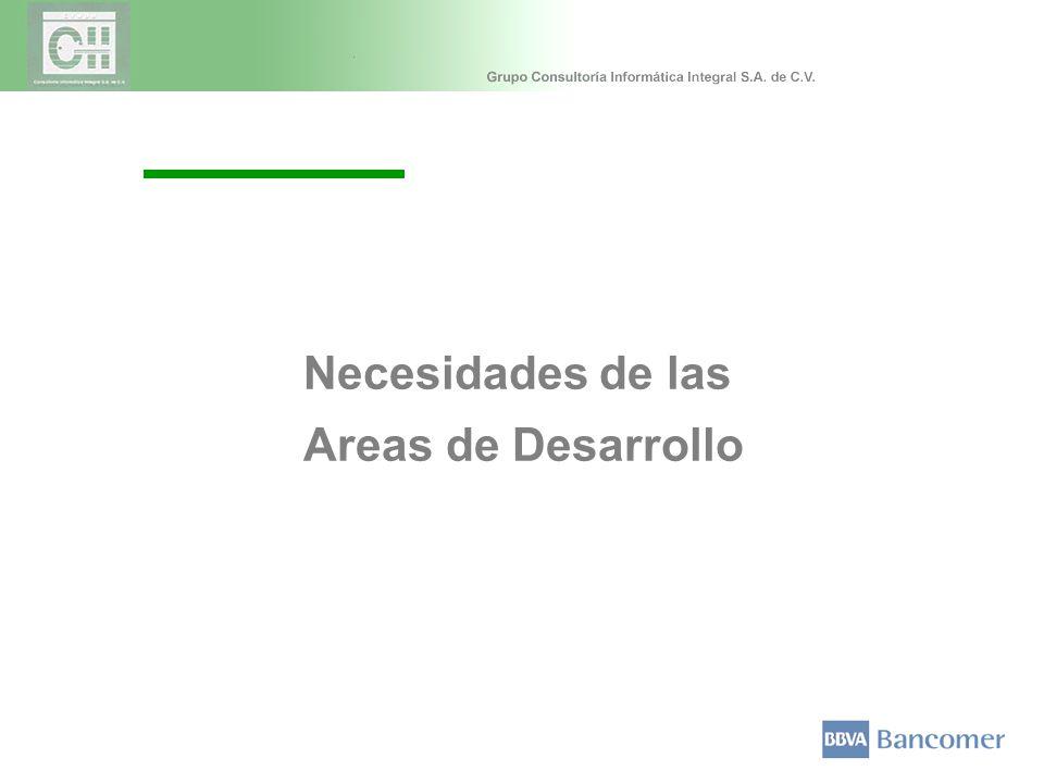 Necesidades de las Areas de Desarrollo