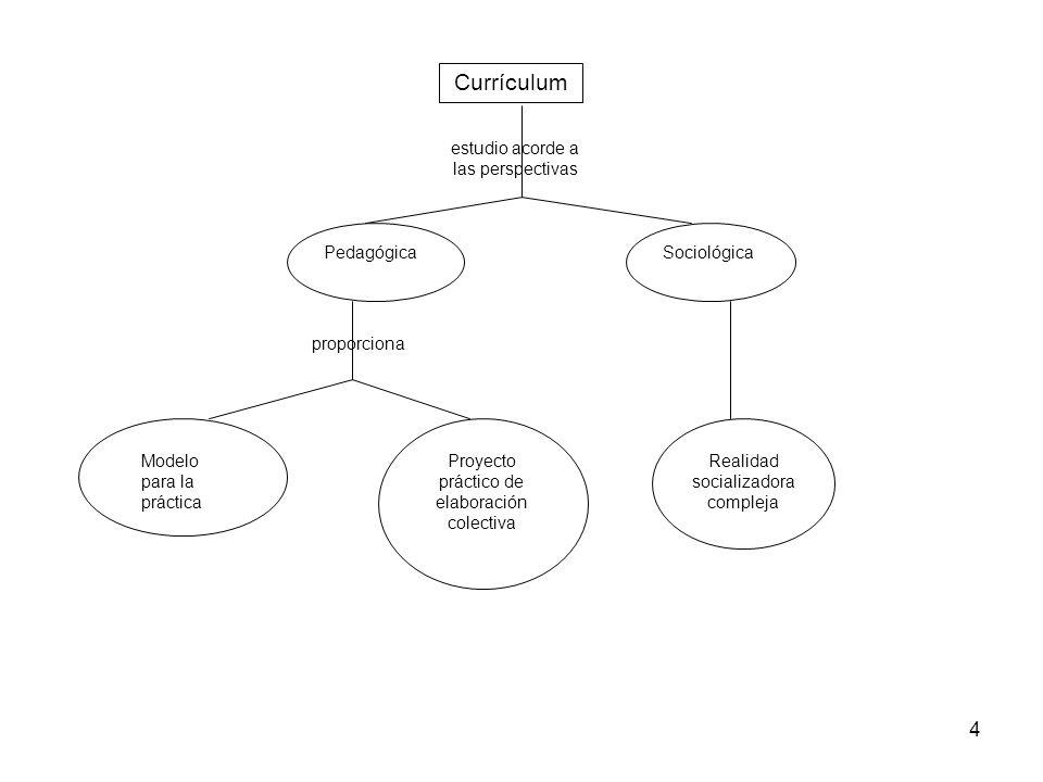 4 PedagógicaSociológica estudio acorde a las perspectivas proporciona Modelo para la práctica Proyecto práctico de elaboración colectiva Realidad soci