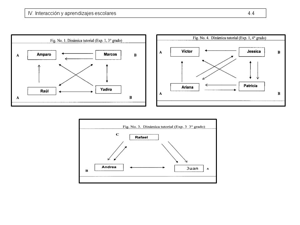 IV. Interacción y aprendizajes escolares 4.4