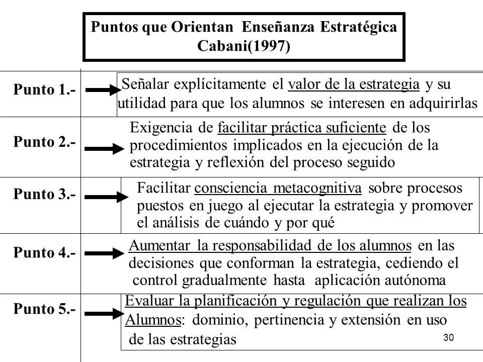 29 Bloques de procedimientos en áreas curriculares Disciplinares y Heurísticos De naturaleza abierta no prescriben acciones ordenadas Disciplinares al