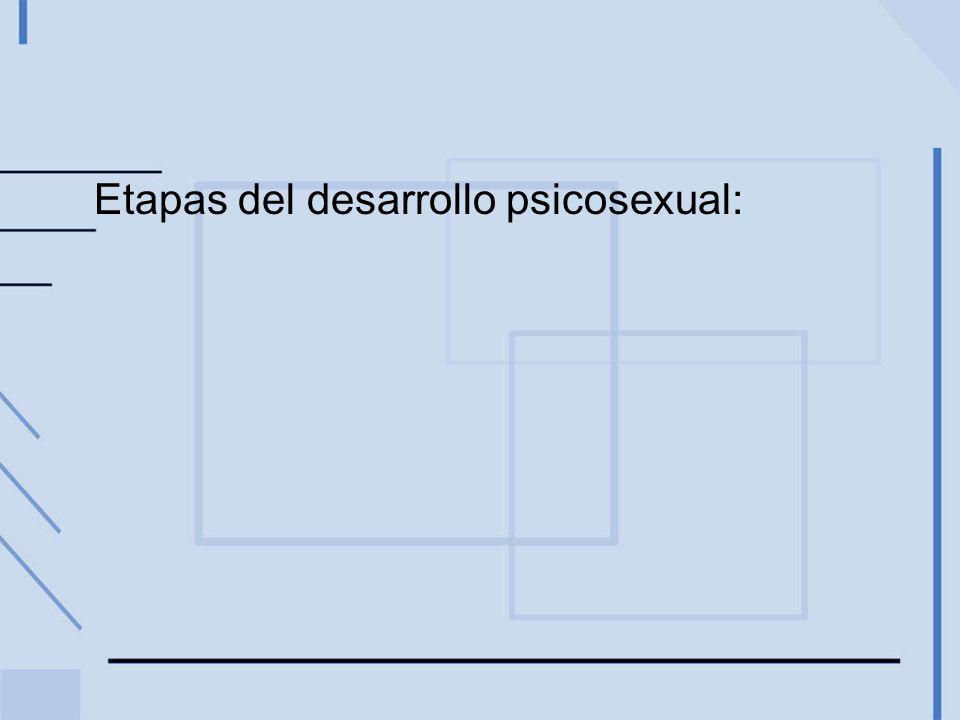 Etapas del desarrollo psicosexual: