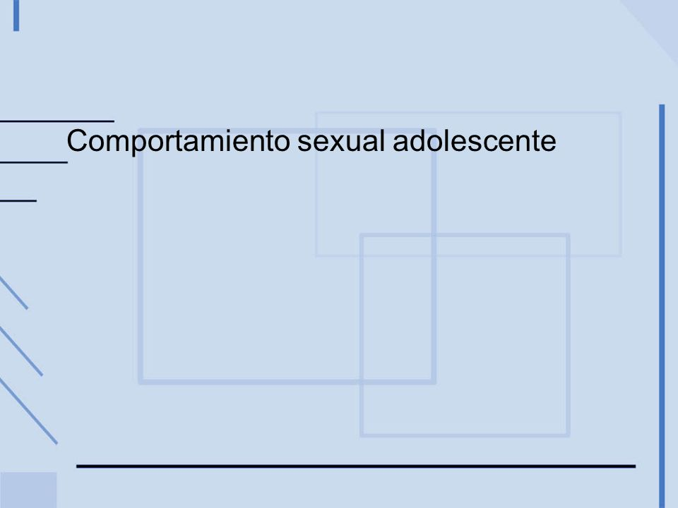 Comportamiento sexual adolescente
