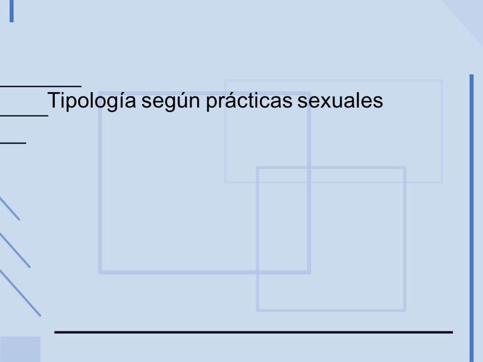 Tipología según prácticas sexuales