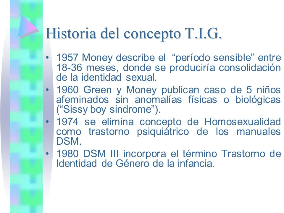 Historia del concepto T.I.G.