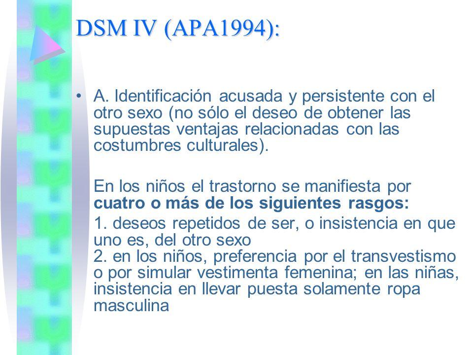 DSM IV (APA1994): A.