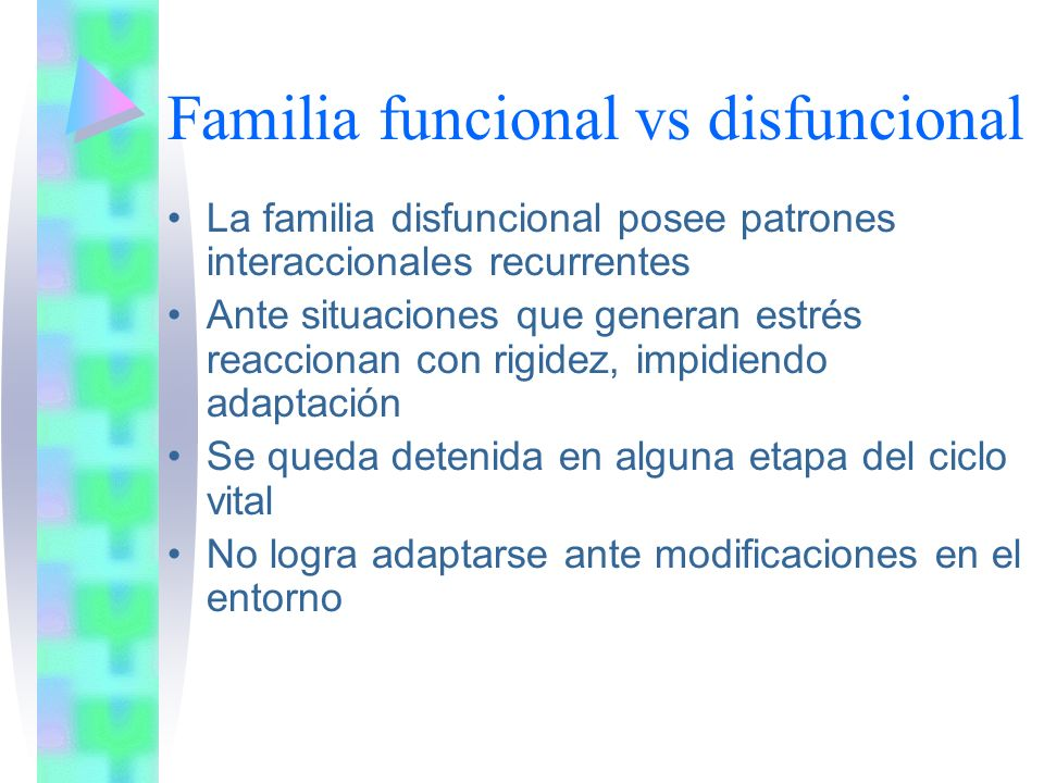 Funciones familiares Supervivencia Reproducción Crianza Delimitación Cognitivo-afectiva Comunicativa Adquisición de género y de diferenciación de roles o papeles sexuales Formación de personalidad Liderazgo Culturización- socialización Protección psicosocial Recuperación