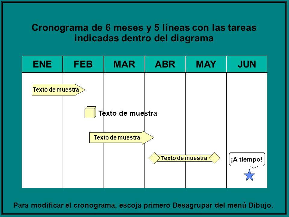 Para modificar el cronograma, escoja primero Desagrupar del menú Dibujo.
