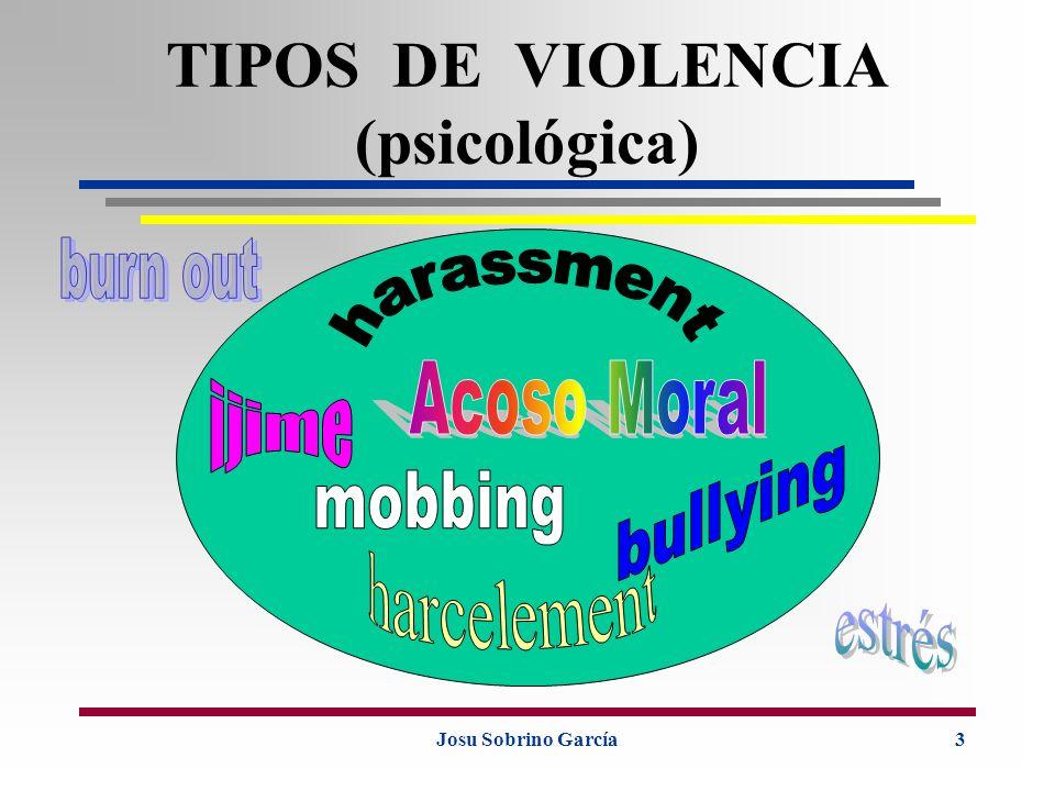 Josu Sobrino García4 CONCEPTO Conducta abusiva (gesto, palabra, actitud, comportamiento...) que atenta, por su repetición o sistematización contra la dignidad o la integridad psíquica o física de una persona, poniendo en peligro su empleo o degradando el ambiente de trabajo.