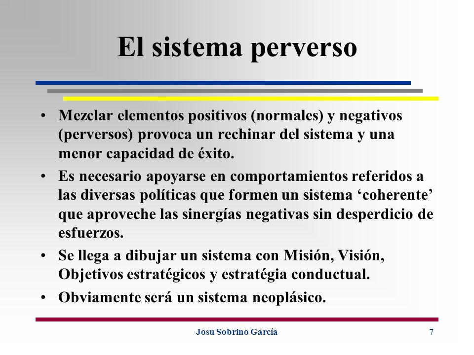 Josu Sobrino García7 El sistema perverso Mezclar elementos positivos (normales) y negativos (perversos) provoca un rechinar del sistema y una menor ca