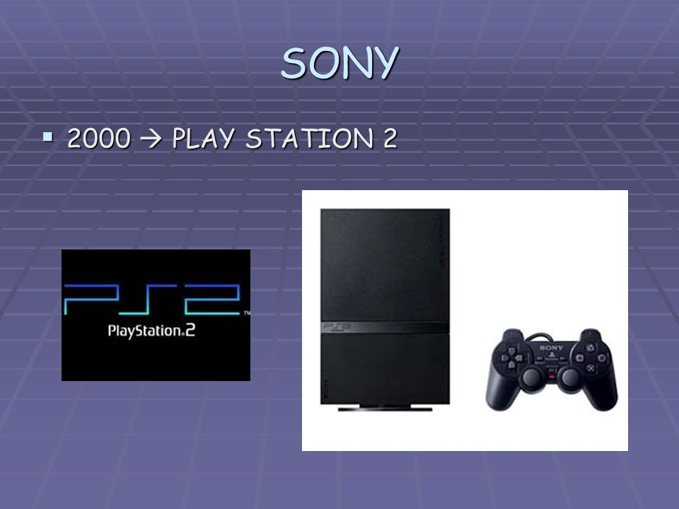 SONY 2000 PLAY STATION 2